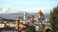Beautiful aerial view of Florence from Piazzale Michelangelo. Stock Footage