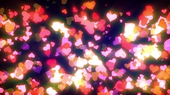 Glowing Hearts Particles Loop Stock Footage