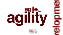 Agility animated word cloud. Stock Footage