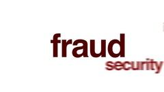 Fraud animated word cloud. Stock Footage