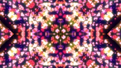 Kaleidoscope Glowing Hearts Particles Loop Stock Footage