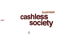 Cashless society animated word cloud. Stock Footage