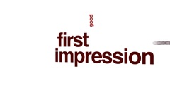 First impression animated word cloud. Stock Footage