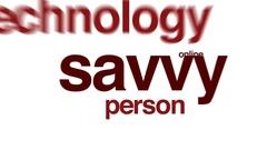 Savvy animated word cloud. Stock Footage