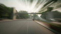 New Delhi driving hyper lapse Stock Footage