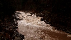Mountain river after heavy rains Stock Footage