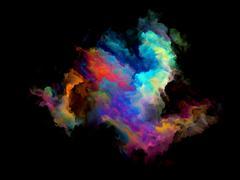 Colorful Fractal Cloud Particle Stock Illustration