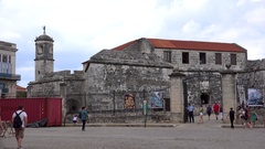 Castillo de la Real Fuerza (Castle of the Royal Force) at the Old Havana Stock Footage