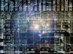 Visualization of Technology Links Stock Illustration