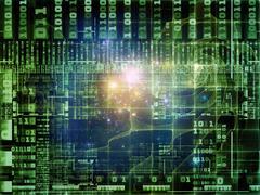 Metaphorical Technology Links Stock Illustration