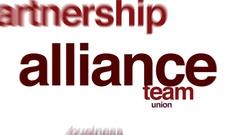 Alliance animated word cloud. Stock Footage