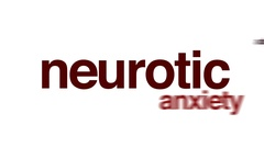 Neurotic animated word cloud. Stock Footage