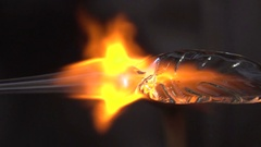 Glass Blowing Close Up Detail Stock Footage