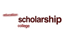 Scholarship word cloud animation Stock Footage