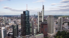 Frankfurt Skyline Day to Night to Day - long term time lapse Stock Footage