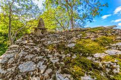 Tucepi village house in ruins Stock Photos