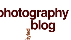Photography blog animated word cloud. Stock Footage