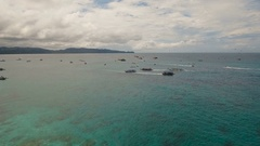 Sea attraction on the beach resort.Boracay island Philippines Stock Footage