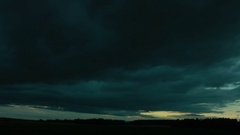 Hurricane already absolutely close. Terrible storm clouds approach. Stock Footage