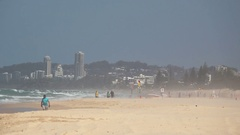 Gold Coast, People on the Beach Stock Footage
