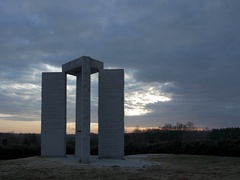 Georgia Guidestones Sunset Time Lapse. Stock Footage