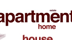 Apartment animated word cloud. Stock Footage