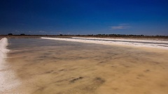 Panorama of Endless Vaporized Salt Fields Stock Footage