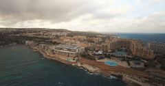 Aerial shot over saint Julians Stock Footage