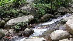 Pong pha bhat Waterfall , Chiang rai province, Thailand. Stock Footage