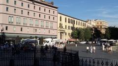The column on the Piazza di Santa Maria Maggiore Stock Footage