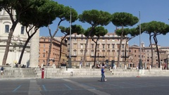 Via dei Fori Imperiali boulevard. The Colosseum in the distance Stock Footage