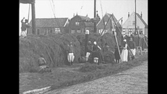Vintage 16mm film, 1925 Holland, isle of Marken, agriculture Stock Footage