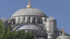 Stunning views of the mosque in Istanbul Stock Footage