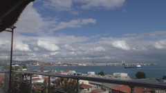 View of Istanbul and the Bosphorus from above Stock Footage