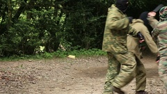 Combat Special Forces training Stock Footage