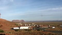 Zooming timelapse of a red, navajo, desert town, near monument valley, in A.. Stock Footage