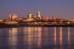 Twilight Skyline of Kansas City Kuvituskuvat