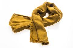 Fashion yellow scarf for winter season Stock Photos