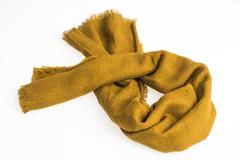Fashion yellow scarf for winter season Stock Photos