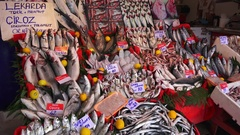 Fresh fish in the market Stock Footage