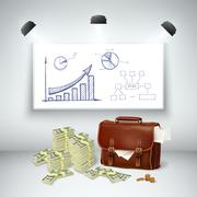 Realistic Business Financial Template Stock Illustration