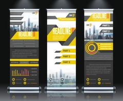 Report Rollup Banners Set Stock Illustration