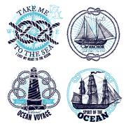 Marine Emblems Collection Stock Illustration