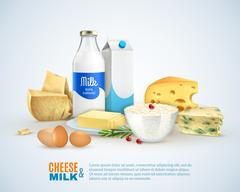 Milk Products Template Stock Illustration