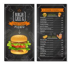 Fast Food Menu Stock Illustration
