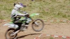 Motocross Jump Stock Footage