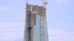 ECB Europe Central Bank under construction Stock Footage