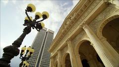 Frankfurt Alte Oper in Timelapse Stock Footage