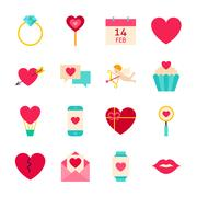 Valentines Day Love Objects Stock Illustration