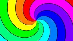 Rainbow spectral swirl rotating slowly anticlockwise, seamless loop Stock Footage